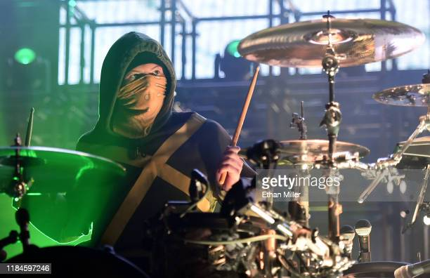 Recording artist Josh Dun of Twenty One Pilots performs during a stop of The Bandito Tour at MGM Grand Garden Arena on October 30 2019 in Las Vegas...
