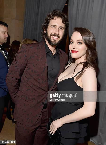 Recording artist Josh Groban and actress Kat Dennings attend the 2016 PreGRAMMY Gala and Salute to Industry Icons honoring Irving Azoff at The...