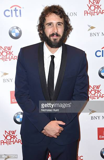 Recording artist Josh Groban attends New York Philharmonic's Opening Gala Celebrating the 175th Anniversary Season at David Geffen Hall on September...
