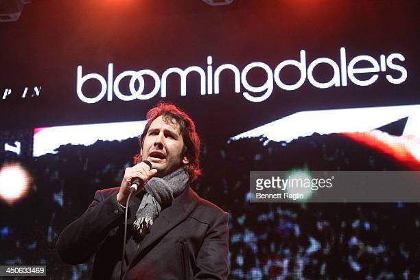 Recording artist Josh Groban performs during the 2013 Holiday Window Unveiling at Bloomingdale's 59th Street Store on November 19 2013 in New York...