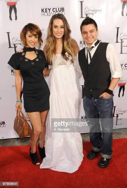 Recording artist Joshua James fashion designer Lauren Elaine and Jeanette Samano attend LA Rocks Fashion Week Lauren Elaine Fall 2010 Black Label at...