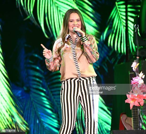 Recording artist Joy Huerta of Jesse Y Joy performs at the Mandalay Bay Events Center on September 15 2017 in Las Vegas Nevada
