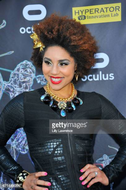 Recording artist Joy Villa attends Artemis Women In Action Film Festival at Laemmle's Ahrya Fine Arts Theatre on April 20 2017 in Beverly Hills...