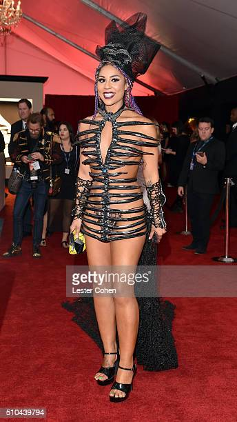 Recording artist Joy Villa attends The 58th GRAMMY Awards at Staples Center on February 15 2016 in Los Angeles California