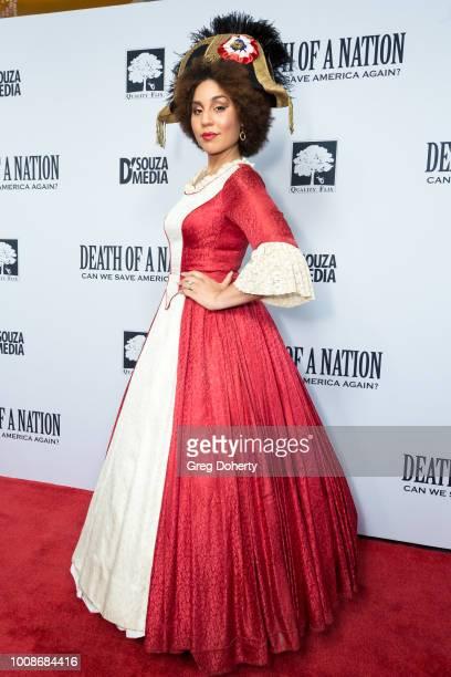 Recording Artist Joy Villa attends the 'Death Of A Nation' Premiere at Regal Cinemas LA Live on July 31 2018 in Los Angeles California