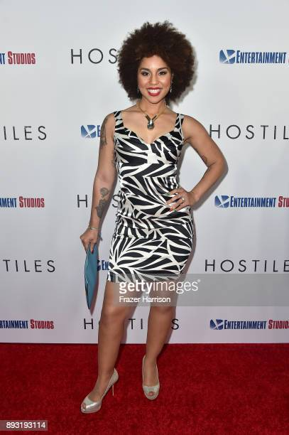 Recording Artist Joy Villa attends the premiere of Entertainment Studios Motion Pictures' 'Hostiles' at Samuel Goldwyn Theater on December 14 2017 in...