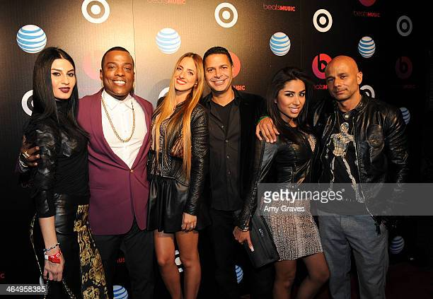 Recording artist Juan G and guests attend Beats Music Launch Party At Belasco Theatre at Belasco Theatre on January 24 2014 in Los Angeles California