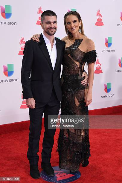 Recording artist Juanes and Karen Martinez attends The 17th Annual Latin Grammy Awards at TMobile Arena on November 17 2016 in Las Vegas Nevada