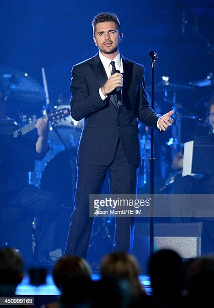 Recording artist Juanes performs onstage during the 2013 Latin Recording Academy Person Of The Year honoring Miguel Bose at the Mandalay Bay...