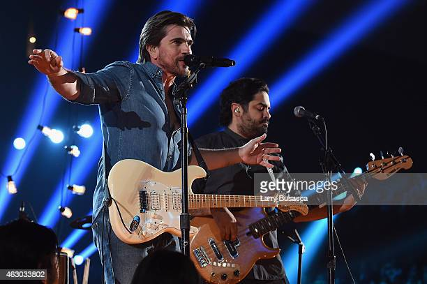 Recording Artist Juanes performs onstage during The 57th Annual GRAMMY Awards at the STAPLES Center on February 8 2015 in Los Angeles California