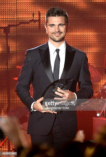 Recording artist Juanes speaks onstage during the 2013 Latin Recording Academy Person Of The Year honoring Miguel Bose at the Mandalay Bay Convention...