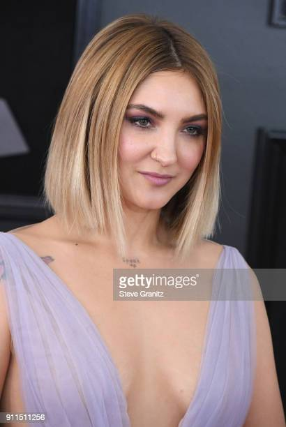 Recording artist Julia Michaels attends the 60th Annual GRAMMY Awards at Madison Square Garden on January 28 2018 in New York City