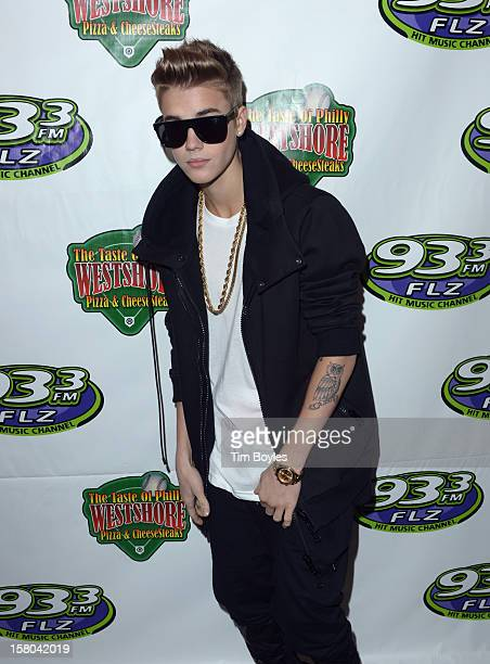 Recording Artist Justin Bieber attends 933 FLZ's Jingle Ball 2012 at Tampa Bay Times Forum on December 9 2012 in Tampa Florida