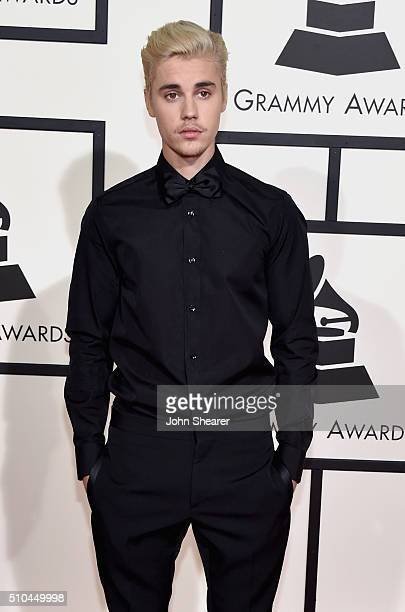 Recording artist Justin Bieber attends The 58th GRAMMY Awards at Staples Center on February 15 2016 in Los Angeles California