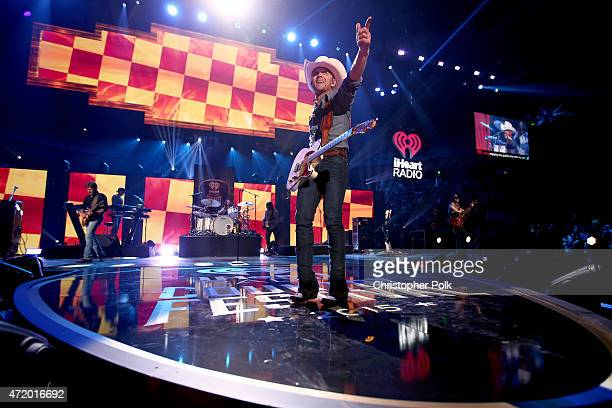 Recording artist Justin Moore performs onstage during the 2015 iHeartRadio Country Festival at The Frank Erwin Center on May 2 2015 in Austin Texas...