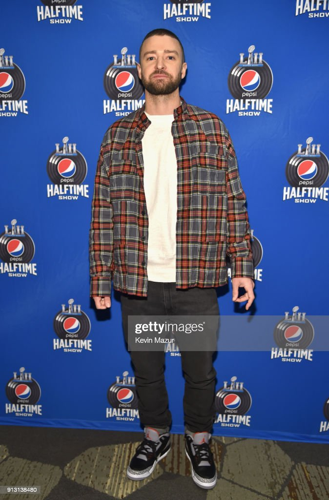 Recording artist Justin Timberlake attends the Pepsi Super Bowl LII Halftime Show Press Conference at Hilton Minneapolis on February 1, 2018 in Minneapolis, Minnesota.