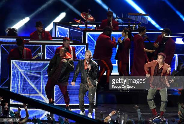 Recording artist Justin Timberlake performs on stage during the Pepsi Super Bowl LII Halftime Show at US Bank Stadium on February 4 2018 in...