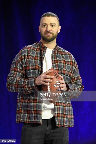 Recording artist Justin Timberlake speaks onstage at the Pepsi Super Bowl LII Halftime Show Press Conference at Hilton Minneapolis on February 1 2018...