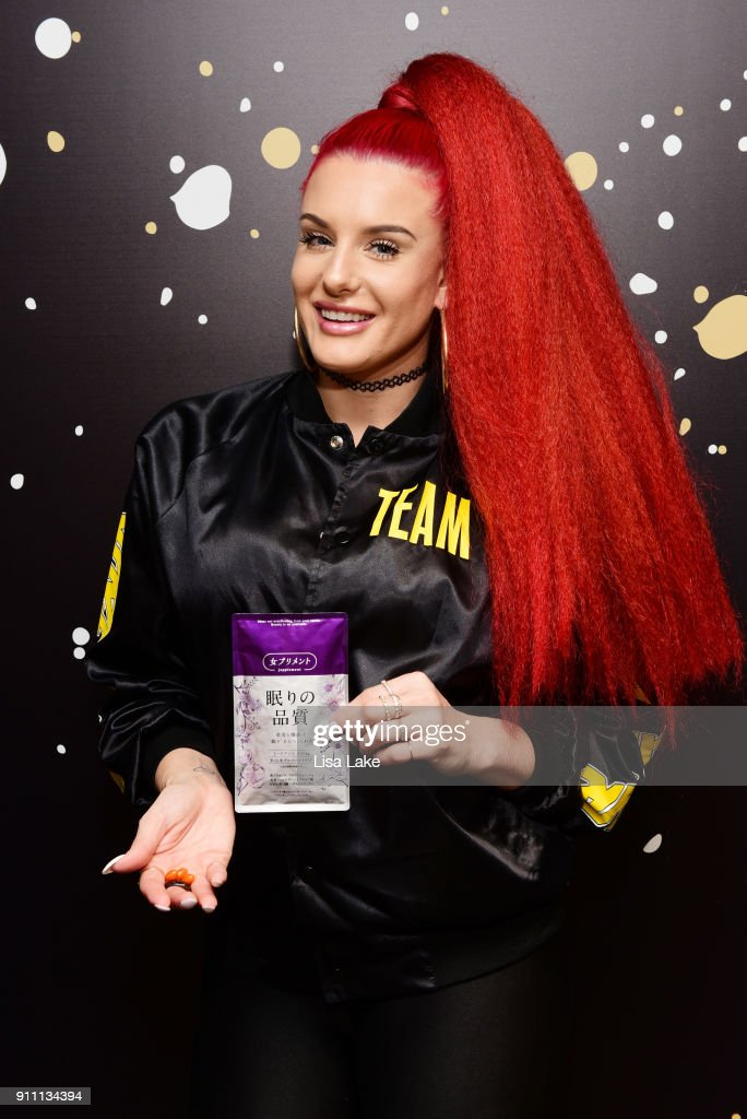 60th annual grammy awards grammy gift lounge day 3 recording artist justina valentine attends the grammy gift lounge during the 60th annual grammy awards at negle Images