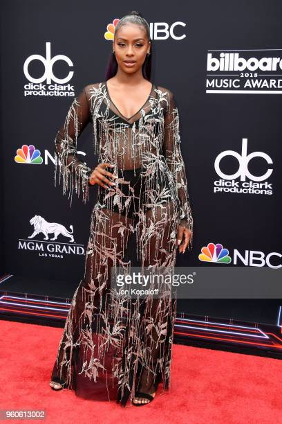 Recording artist Justine Skye attends the 2018 Billboard Music Awards at MGM Grand Garden Arena on May 20 2018 in Las Vegas Nevada