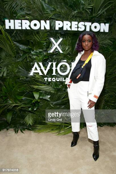 Recording artist Justine Skye attends the Heron Preston Tequila Avion Dance Party in Celebration Of Heron Preston Public Figure at Public Arts on...