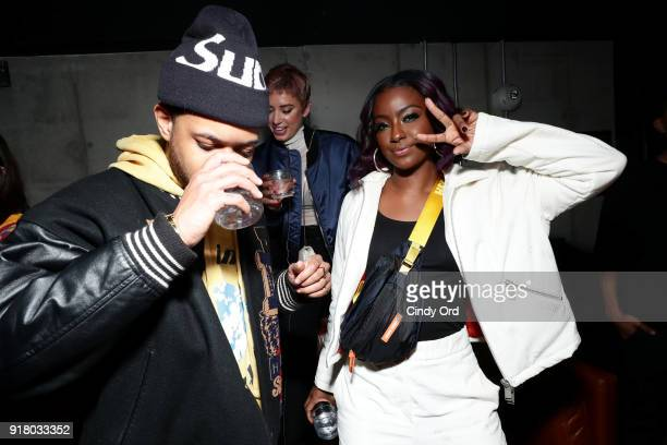 Recording artist Justine Skye attends the Heron Preston Tequila Avion Dance Party in Celebration Of Heron Preston 'Public Figure' at Public Arts on...