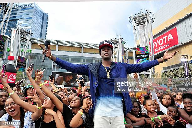 Recording artist K Camp on stage at the 2015 BET Awards 106 Park Presented By Coke on June 27 2015 in Los Angeles California