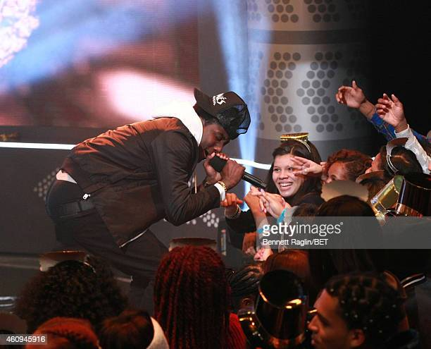 Recording artist K Camp performs during 106 Party at BET studio on December 12 2014 in New York City