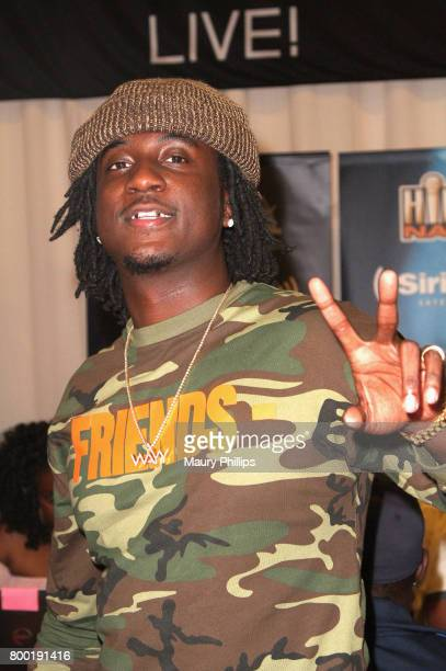 Recording artist K Camp poses during day one of radio broadcast center sponsored by Sprite during the 2017 BET Awards at Microsoft Square on June 23...