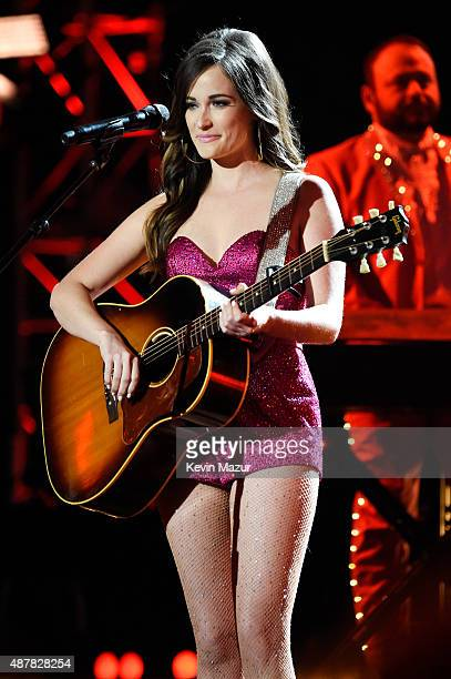Recording artist Kacey Musgraves performs onstage during the Think It Up education initiative telecast for teachers and students hosted by...