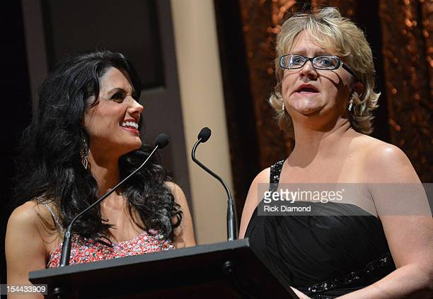 Recording Artist Kali Rose and Comedian Chonda Pierce at the Inspirational Country Music Awards on October 18 2012 in Nashville Tennessee