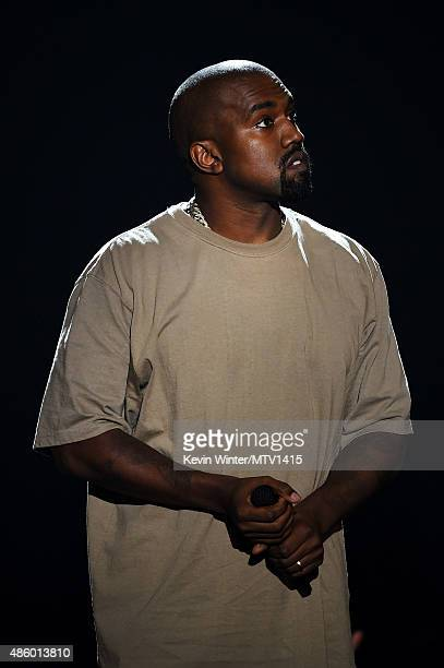 Recording artist Kanye West accepts the Video Vanguard Award onstage during the 2015 MTV Video Music Awards at Microsoft Theater on August 30 2015 in...
