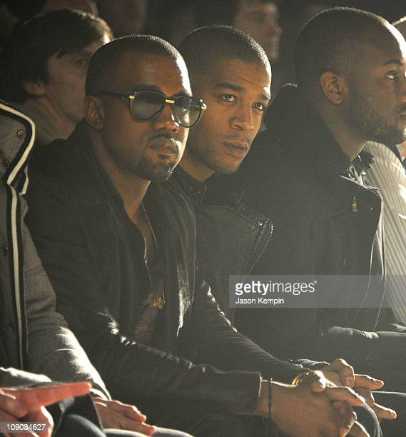 Recording Artist Kanye West and Kid Cudi attend the Band of Outsiders Fall 2011 fashion show during MercedesBenz Fashion Week at SIR Stage on...