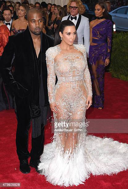 Recording artist Kanye West and TV personality Kim Kardashian West attend the 'China Through The Looking Glass' Costume Institute Benefit Gala at the...