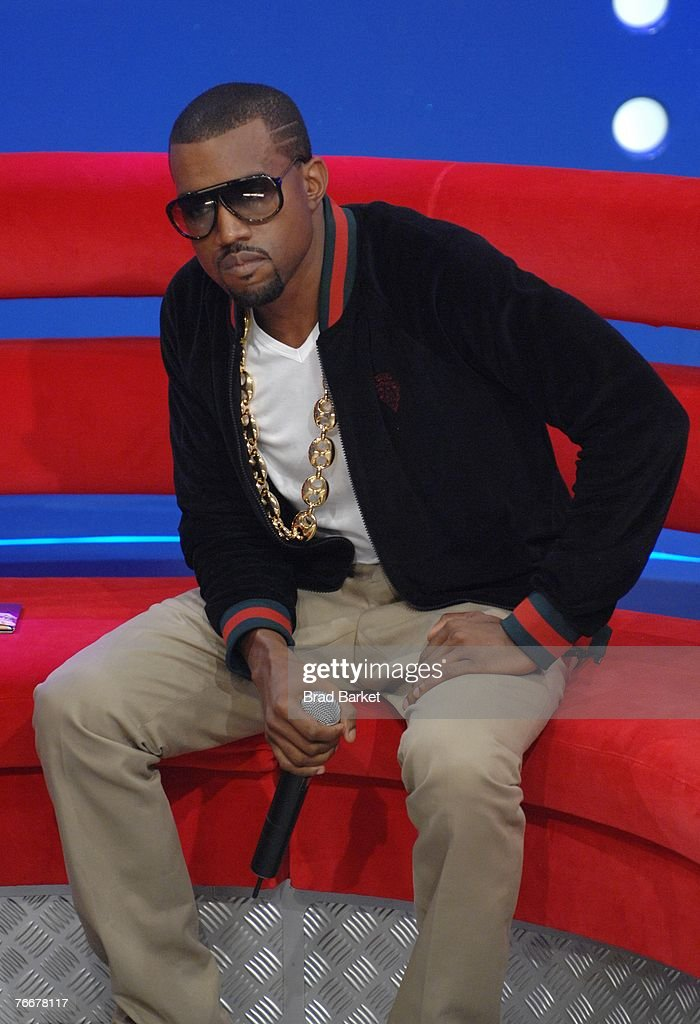 Recording artist Kanye West appears on BET's 106 & Park at BET Studios September 11, 2007 in New York City.