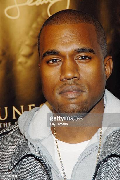 Recording artist Kanye West attends Diddy's Vibe Magazine Cover Celebration and 'Press Play' Album Release Party at Crobar on October 16 2006 in New...