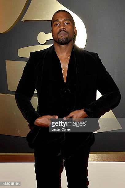 Recording artist Kanye West attends The 57th Annual GRAMMY Awards at the STAPLES Center on February 8 2015 in Los Angeles California
