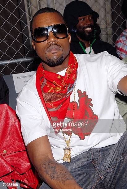 Recording artist Kanye West attends the Sprite Street Couture Showcase at Guastavinos on May 23 2006 in New York City