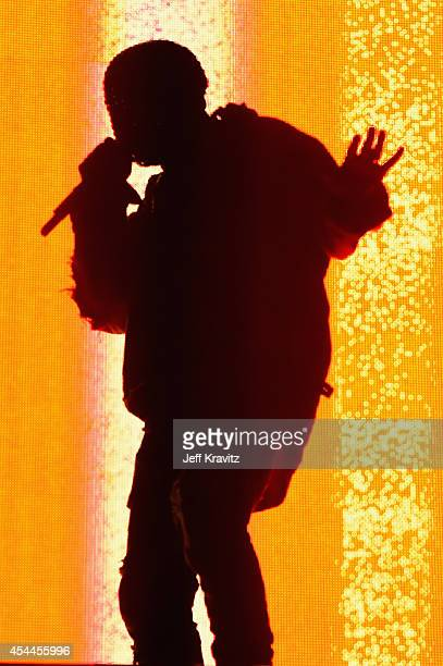 Recording artist Kanye West performs on the Marilyn Stage during day 2 of the 2014 Budweiser Made in America Festival at Los Angeles Grand Park on...