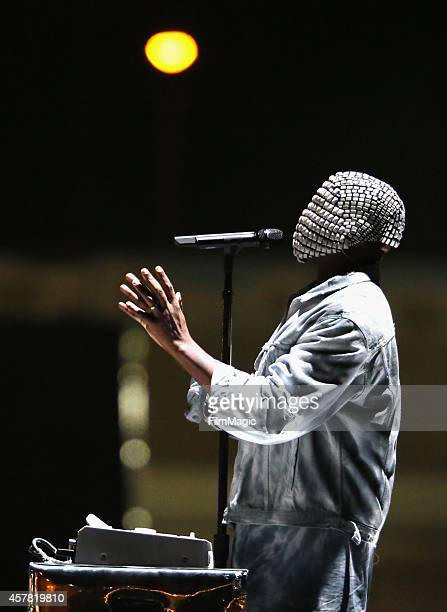Recording artist Kanye West performs onstage during day 1 of the 2014 Life is Beautiful festival on October 24 2014 in Las Vegas Nevada
