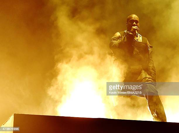 Recording artist Kanye West performs onstage during the 2015 Billboard Music Awards at MGM Grand Garden Arena on May 17 2015 in Las Vegas Nevada