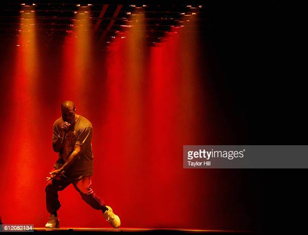 Recording Artist Kanye West performs onstage during The Meadows Music Arts Festival Day 2 on October 2 2016 in Queens New York