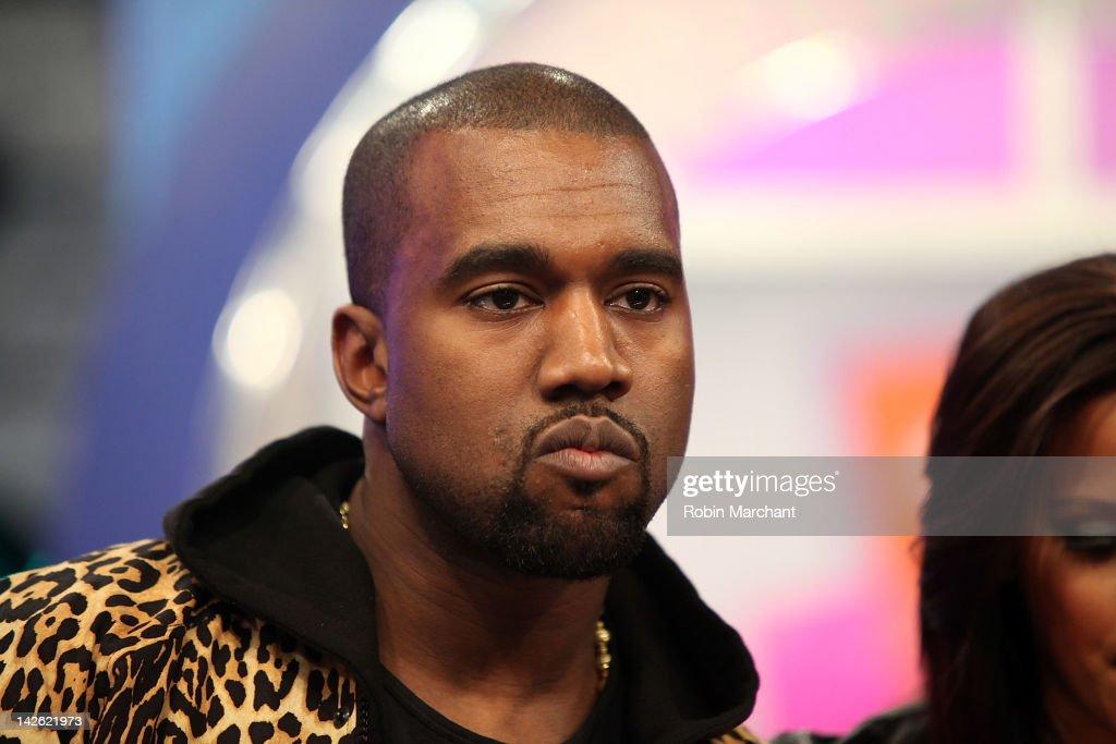 719c73d22b2 Recording artist Kanye West visits BET s 106   Park on April 9