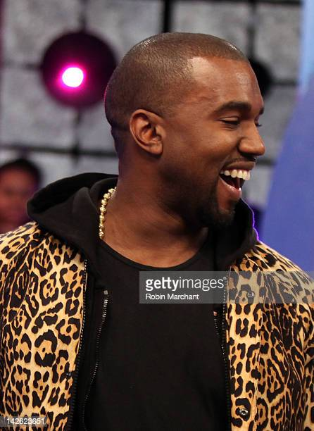 462eed1d384 Recording Artist Kanye West visits BET s 106 Park on April 9 2012 in New  York City