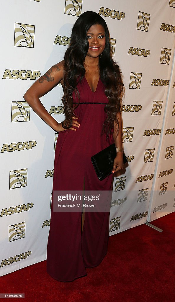 Recording artist Karen Civil attends The American Society of Composers, Authors and Publishers (ASCAP) 26th Annual Rhythm & Soul Music Awards at The Beverly Hilton Hotel on June 27, 2013 in Beverly Hills, California.