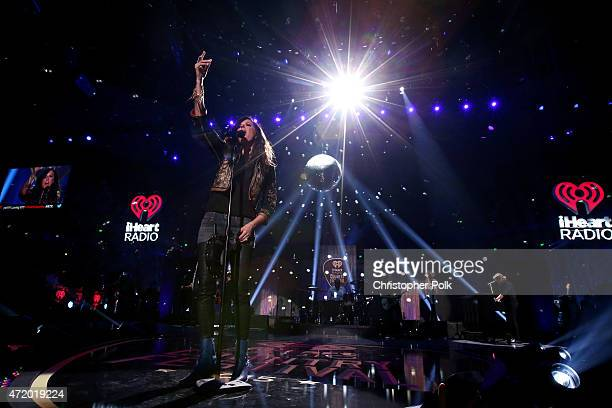Recording artist Karen Fairchild of Little Big Town performs onstage during the 2015 iHeartRadio Country Festival at The Frank Erwin Center on May 2...
