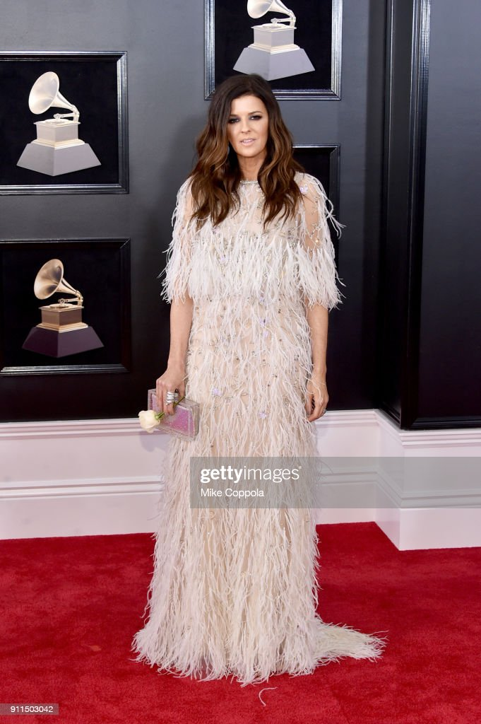 Recording artist Karen Fairchild of musical group Little Big Town attends the 60th Annual GRAMMY Awards at Madison Square Garden on January 28, 2018 in New York City.