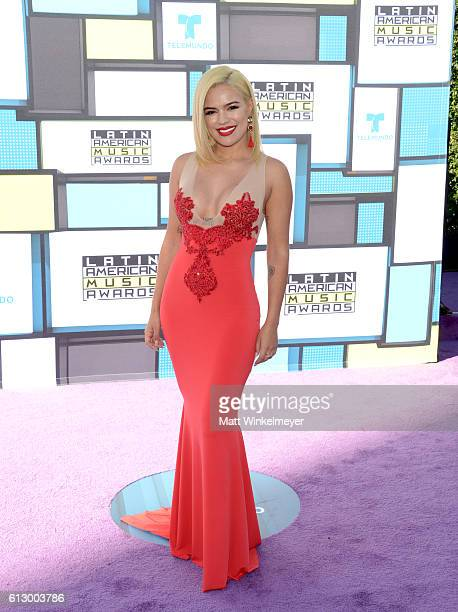 Recording artist Karol G attends the 2016 Latin American Music Awards at Dolby Theatre on October 6 2016 in Hollywood California