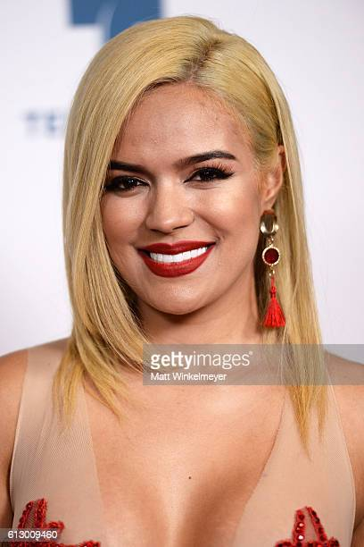 Recording artist Karol G attends the 2016 Latin American Music Awards at Dolby Theatre on October 6, 2016 in Hollywood, California.