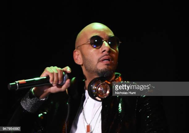 Recording artist Kasseem 'Swizz Beatz' Dean performs on stage at the Eighth Annual Brooklyn Artists Ball at The Brooklyn Museum on April 17 2018 in...